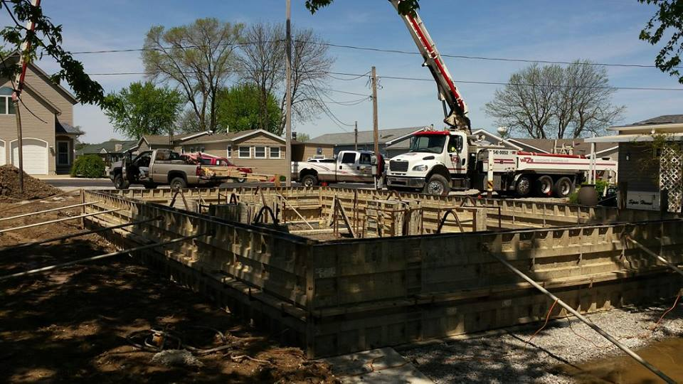 High Touch Homes Catawba Island ready-to-pour-walls